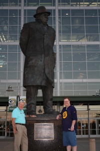James Craig Arneson and Erik Arneson at Lambeau Field